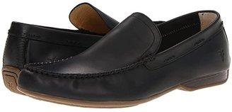 Frye Lewis Venetian (Dark Brown Waxed Suede) Men's Slip on Shoes