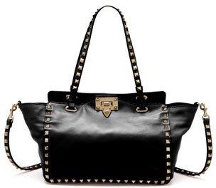 Valentino Rockstud Mini Tote Bag, Black