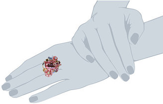 Betsey Johnson Spring Glam Stone Cluster Flower Ring