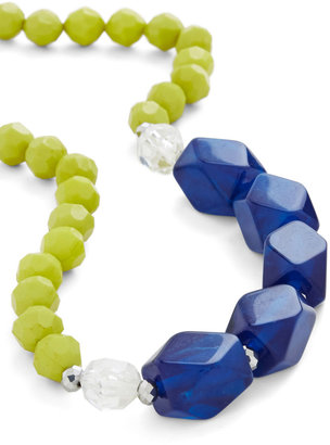 Here at the Cobalt Cabana Necklace