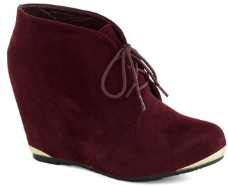 Boutique Opening Bootie in Wine
