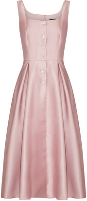 Adrianna Papell Mikado Tea Length Dress