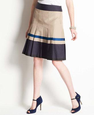Ann Taylor Twirl Pleated Skirt