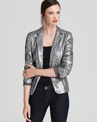 MICHAEL Michael Kors Long Sleeve Sequin Blazer