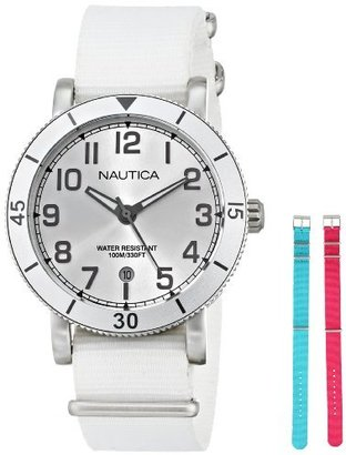 Nautica Women's N11631M Stainless Steel Watch with Interchangeable Bands $115 thestylecure.com
