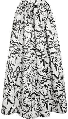 Alice + Olivia Abella printed satin maxi skirt