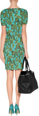 Etro Aqua Printed Jersey Dress