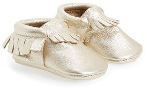 Infant Girl's Freshly Picked Metallic Leather Moccasin $60 thestylecure.com