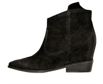 Belle by Sigerson Morrison 80mm Kyeran Calfskin Wedged Ankle Boots