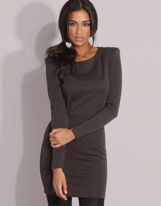 Asos Long Sleeve Ponti Fitted Dress