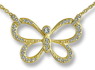 Zasha Diamond Butterfly Necklace