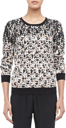 Marc by Marc Jacobs Isa Sequined Printed Sweater
