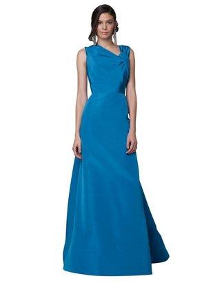 Oscar de la Renta Faille Asymmetrical Gown