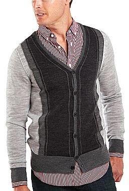 JCPenney JF J. Ferrar® Colorblock Cardigan Sweater