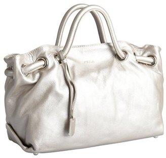 Furla moon metallic leather 'Carmen' shopper tote