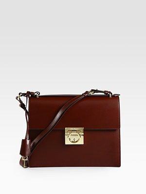 Salvatore Ferragamo Marisol Lock Shoulder Bag