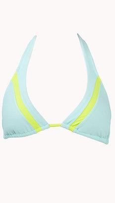 Forever 21 Colorblocked Halter Bikini Top