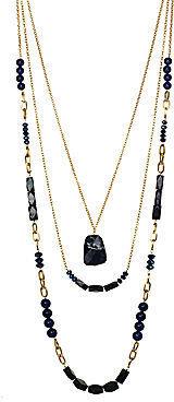 JCPenney FINE JEWELRY ROX by Alexa Blue Gemstone 3-Row Necklace
