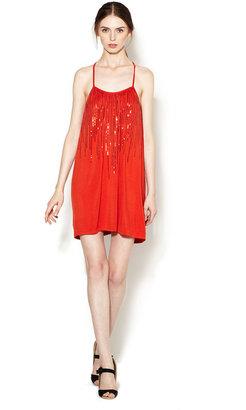 Vena Cava Sequined Jersey T-Back Dress