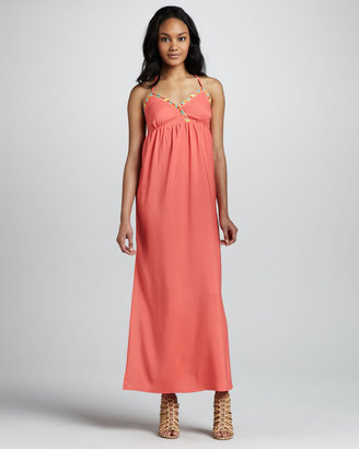 6 Shore Road Dragonfly Embroidered Maxi Dress
