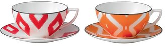 Jasper Conran at Wedgwood Kilim Tea Cup & Saucer, Pair