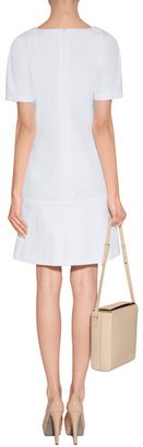 Jil Sander White Stretch Cotton Dress