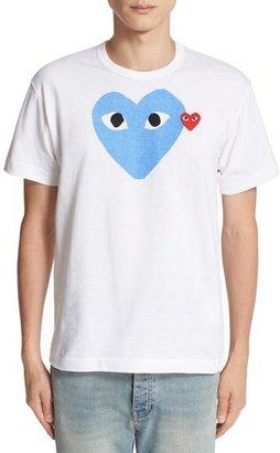 Men's Comme Des Garcons Play Heart Print T-Shirt $125 thestylecure.com