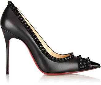 Christian Louboutin Malabar Hill 100 spiked leather pumps