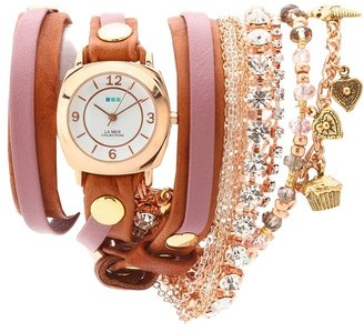 La Mer Champagne Stones Crystal Wrap (Tobacco&Rose/Rose Gold) - Jewelry