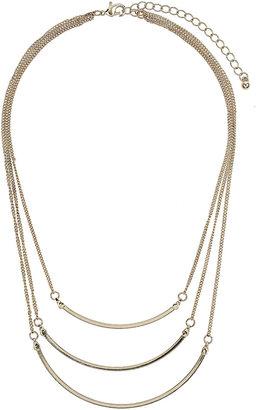 Topshop Fine 3 Row Ditsy Necklace