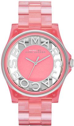 Marc by Marc Jacobs Women's Henry Fluro Coral Nylon Bracelet Watch 41mm MBM4568