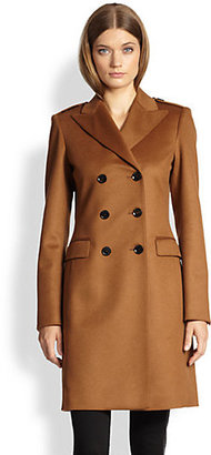 Burberry Double-Breasted Cashmere Coat
