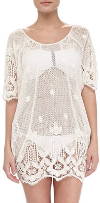 Miguelina Jessica Sheer Scalloped Coverup $475 thestylecure.com