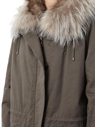 Yves Salomon Fur lined parka coat