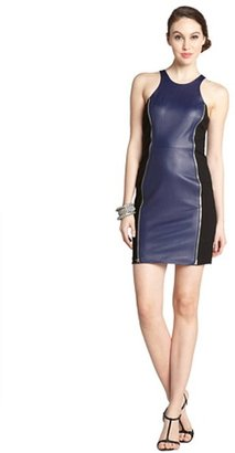 Rebecca Minkoff navy and black lambskin zipper detail 'Lou' sleeveless dress