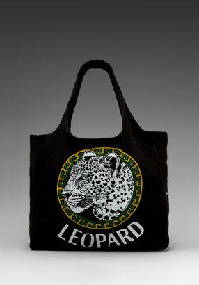 Lauren Moshi Taylor Color Leopard Medallion Tote