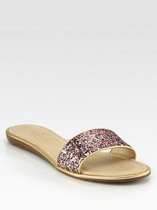 Kate Spade Tulip Glitter Sandals