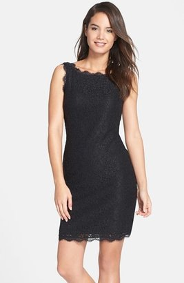 Women's Adrianna Papell Boatneck Lace Sheath Dress $145 thestylecure.com