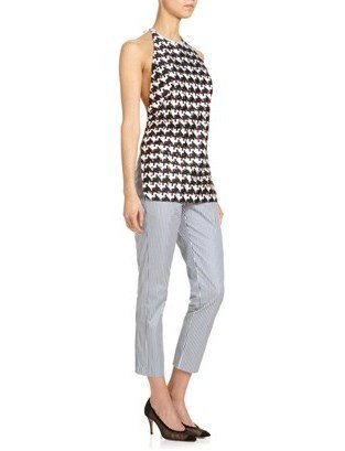 Thakoon Multi Cotton Tie Back Top