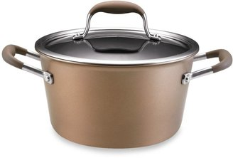 Anolon Advanced Bronze 4 1/2-Quart Covered Tapered Stock Pot