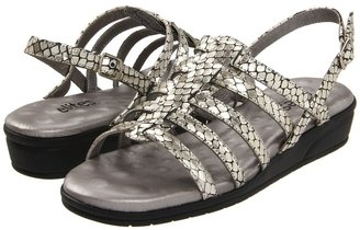 Walking Cradles Venusa (Bright Silver Snake Print Leather) - Footwear