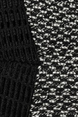 Jason Wu Mesh-paneled tweed dress