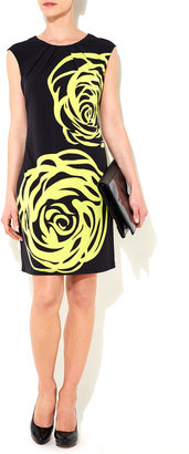 Wallis Lime Green Rose Print Dress
