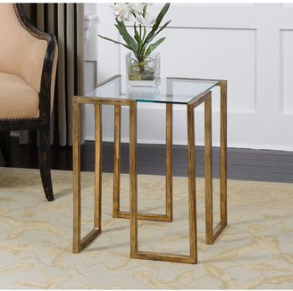 Uttermost Mirrin Antique Gold Accent Table