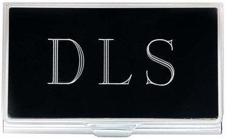 Accessories Engravable Black Business Card Holder