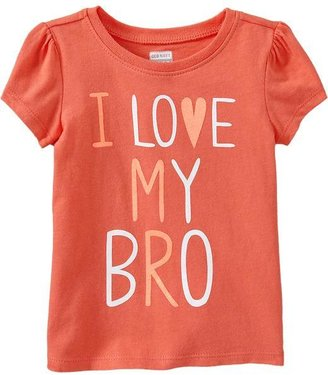 """Old Navy """"I ♥ My Bro"""" Tees for Baby"""