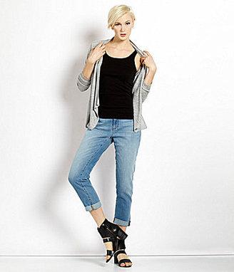 Eileen Fisher Silk Hi-Low Silk Blouse, Scoopneck Long Slim Tank & Textured Pencil Skirt