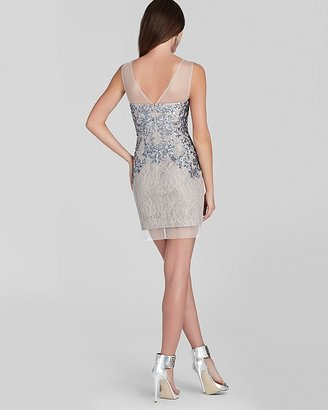 BCBGMAXAZRIA Petites Petites Sequin Illusion Sequin Dress - Abigail