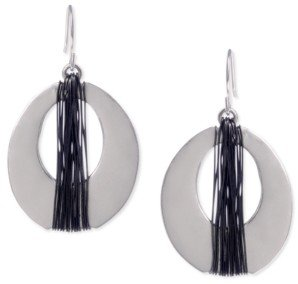 Kenneth Cole New York Silver Wire Wrapped Oval Drop Earring