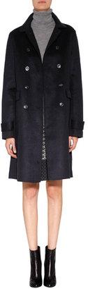 Vanessa Bruno Wool-Cashmere Coat in Navy